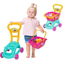 Dede toys - Dede Frozen Sepetli Oyuncak Market Arabası 24 Parça Aksesuarlı