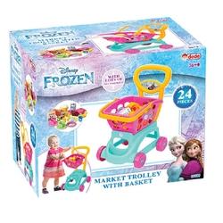 Dede Frozen Sepetli Oyuncak Market Arabası 24 Parça Aksesuarlı - Thumbnail