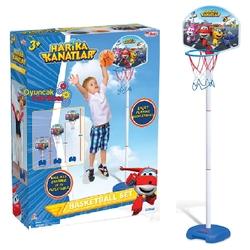 Dede toys - Dede Harika Kanatlar Ayaklı Basketbol Potası 3 Boy Ayarlanabilir