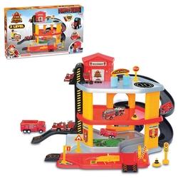 Dede Toys - Dede İtfaiye Oyuncak Garaj Seti 3 Katlı