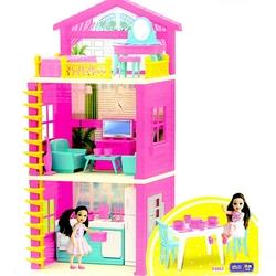 Dede toys - Dede Lola'nın 3 Katlı Oyuncak Evi Aksesuarlı