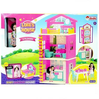 Dede Lola'nın 3 Katlı Oyuncak Evi Aksesuarlı