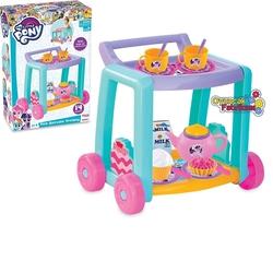 Dede toys - Dede My Little Pony Oyuncak Çay Servis Arabası 14 Parça