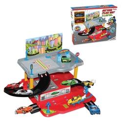 Dede Toys - Dede Oyuncak 2 Katlı Aksesuarlı Garaj Otopark Oyun Seti 2 Araba Hediyeli