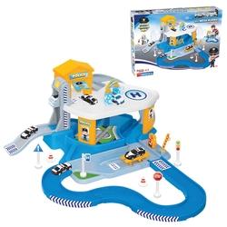 Dede Toys - Dede Oyuncak 2 Katlı Polis Garajı Seti Ve Mega Pist