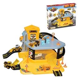 Dede Toys - Dede Oyuncak 2 Katlı Şantiye Otopark Ve Oyuncak Garaj Seti Asansörlü 2 Araçlı