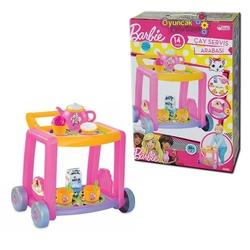 Dede toys - Dede Oyuncak Barbie Çay Servis Arabası 14 Parça