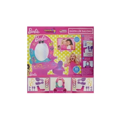 Dede Oyuncak Barbie Güzellik Salonu Oyun Seti 16 Parça Aksesuarlı 03509 - Thumbnail