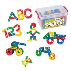 Dede Toys - Dede Oyuncak Eğitici Click Clack Puzzle Küçük Box (96 Parça)