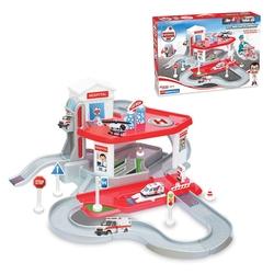 Dede Toys - Dede Oyuncak Hastane Garaj Seti 2 Katlı Asansörlü