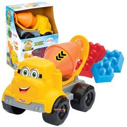 Dede toys - Dede Oyuncak Küçük Çimento Kamyonu Bloklu 20 Parça
