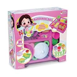 Dede Toys - Dede Oyuncak Plastik Niloya Bulaşık Seti 21 Parça