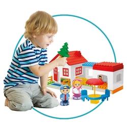 Dede toys - Dede Oyuncak Tek Katlı Ev Bloklar 36 Parça