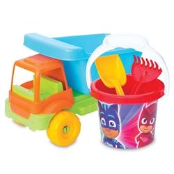 Dede toys - Dede Pj Masks Plaj Kova Seti ve Oyuncak Küçük Kamyon
