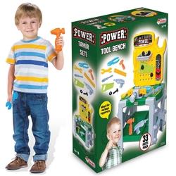 Dede Toys - Dede Power Tezgahlı Ayaklı Oyuncak Tamir Seti 33 Parça