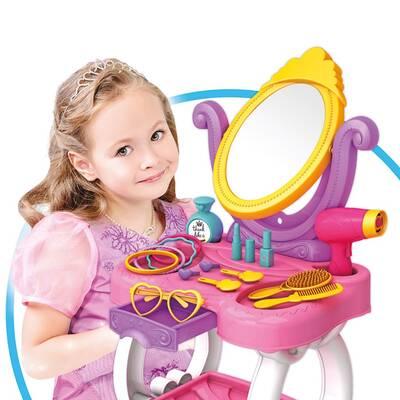 Dede Toys Candy Ken Oyuncak Güzellik Masası 15 Parça Set 03696