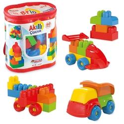Dede Toys - Dede Toys Eğitici Akıllı Çocuk Bloklar 60 Parça
