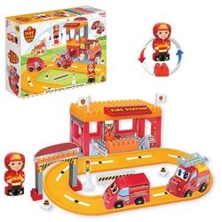 Dede Toys - Dede Toys Eğitici Blok Temalı İtfaiye Yol Set 46 Parça