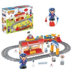 Dede Toys - Dede Toys Eğitici Blok Temalı Raylı Tren Set 61 Parça