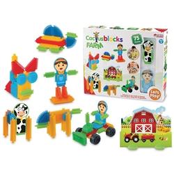 Dede Toys - Dede Toys Eğitici Kaktüs Bloklar Çiftlik 75 Parça 03312