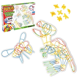 Dede Toys - Dede Toys Eğitici Plus Bambu Çubuklar (300 Parça )03680