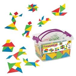 Dede Toys - Dede Toys Eğitici Tangram Oyunu Box (56 Parça) 01940