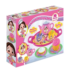 Dede Toys - Dede Toys Niloya Kapkekli Oyuncak Çay Seti 16 Parça