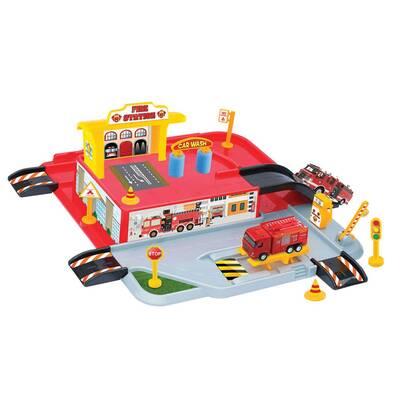 Dede Toys Oyuncak 1 Katlı İtfaiye Otopark Garaj Oyun Seti 03343