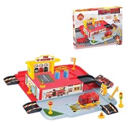 Dede Toys - Dede Toys Oyuncak 1 Katlı İtfaiye Otopark Garaj Oyun Seti 03343