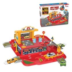 Dede Toys - Dede Toys Oyuncak 1 Katlı Otopark Garaj Oyun Seti 03066