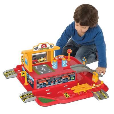 Dede Toys Oyuncak 1 Katlı Otopark Garaj Oyun Seti 03066