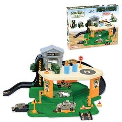 Dede Toys - Dede Toys Oyuncak 2 Katlı Askeriye Garaj Otopark Asansörlü 03340