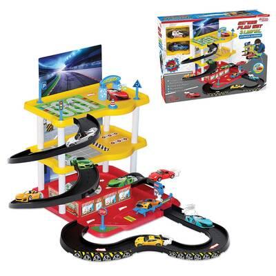 Dede Toys Oyuncak Otopark 3 Katlı Garaj Oyun Seti 03068