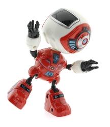 MEGA - Dekoratif Sesli Işıklı Mini Sevimli Kırmızı Oyuncak Robot