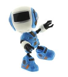 MEGA - Dekoratif Sesli Işıklı Mini Sevimli Mavi Robot