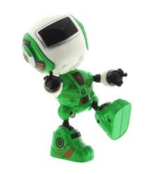 MEGA - Dekoratif Sesli Işıklı Mini Sevimli Yeşil Robot