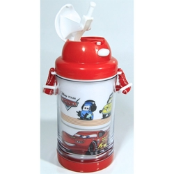 Disney - Disney Car Pipetli Su Matarası 500ml
