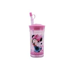 Disney - Disney Kapaklı Pipetli Bardak Minnie