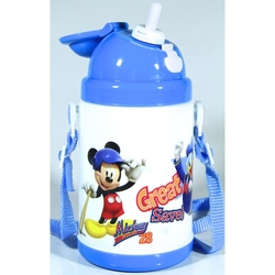 Disney - Disney Mickey Mouse Pipetli Su Matarası 350ml