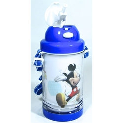 Disney - Disney Mickey Mouse Pipetli Su Matarası 500ml