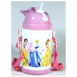 Disney - Disney Princess Pipetli Kapaklı Su Matarası 350ml