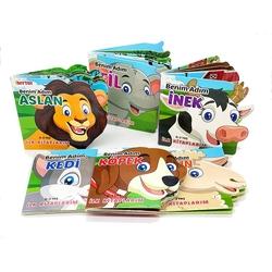 Dıy Toy - Dıy Toy Ben Kim Hayvanlar Eğitim Seti 6 'LI Farklı Model Set