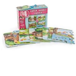 Dıy Toy - Dıy Toy Çiftlik Çocuk Puzzle (Eva Köpük) 4 Lü 8+12+16+ 34 Parça