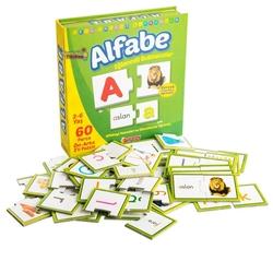 Dıy Toy - Dıy Toy Eğitici Eğlenceli Alfabe Eşleştirme Oyunu Puzzle Ön Arka 2 'li 60 Parça