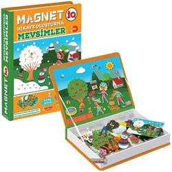 Dıy Toy - Dıy Toy Eğitici Magnet IQ Hikaye Oluşturma Mevsimler Manyetik Puzzle 108 Parça