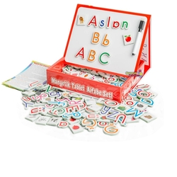 Dıy Toy - Dıy Toy Eğitici Manyetik Tablet Alfabe Seti ve Yazı Tahtası