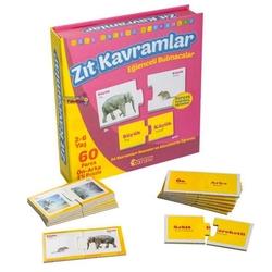 Dıy Toy - Dıy Toy Eğitici Zıt Kavramlar Eğlenceli Bulmacalar Ön Arka 2'li Puzzle 60 Parça