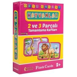 Dıy Toy - Dıy Toy Okul Öncesi Hayvanlar Eşleştirme Kartları 2 ve 3 Parçalı (40 Parça)