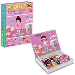 Dıy Toy - Dıytoy Eğitici Oyun Magnet IQ Kıyafet Giydirme Kostümler 52 Parça