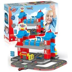 Dolu Oyuncak Fabrikasi - Dolu 2 Katlı Garaj Oyun Seti İki Katlı Oyuncak Otopark 2 Arabalı